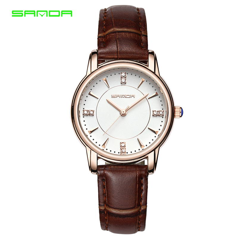 SANDA Watches Clock Fashion-Dress Feminino Famous Luxury Relogio Brand Montre Female