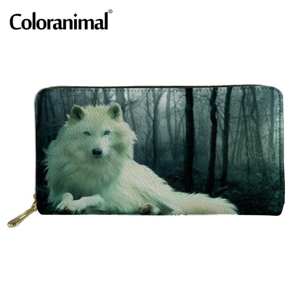 Coloranimal Men Leather Purse Long Wallet Cool Animal