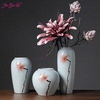 Jia gui luo Modern white porcelain 3 sets of desktop vases