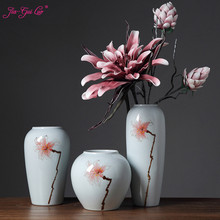 Jia-gui luo Modern white porcelain 3 sets of desktop vases