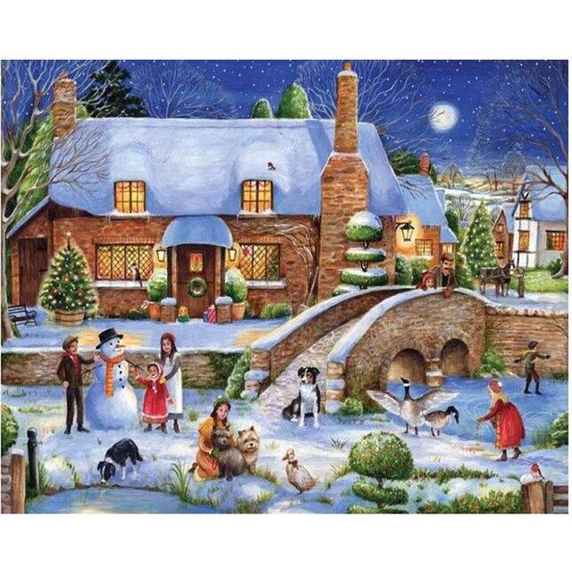 DIYdiamond живопись Рождественские декорации головоломки аватар вышивка алмаз мозаика главная наклейки дети живопись декор комнаты KL337