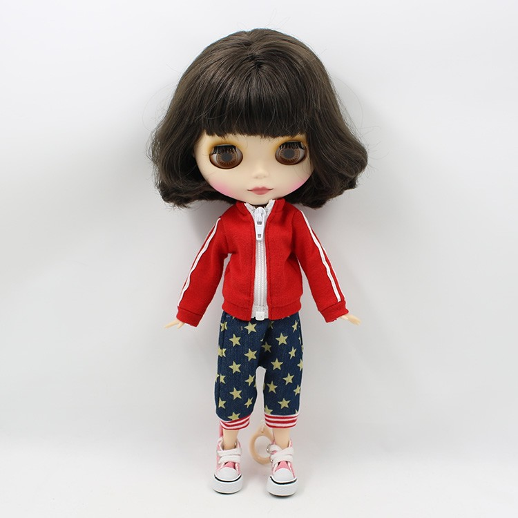 Neo Blythe Doll with Brown Hair, White Skin, Matte Face & Jointed Body 7