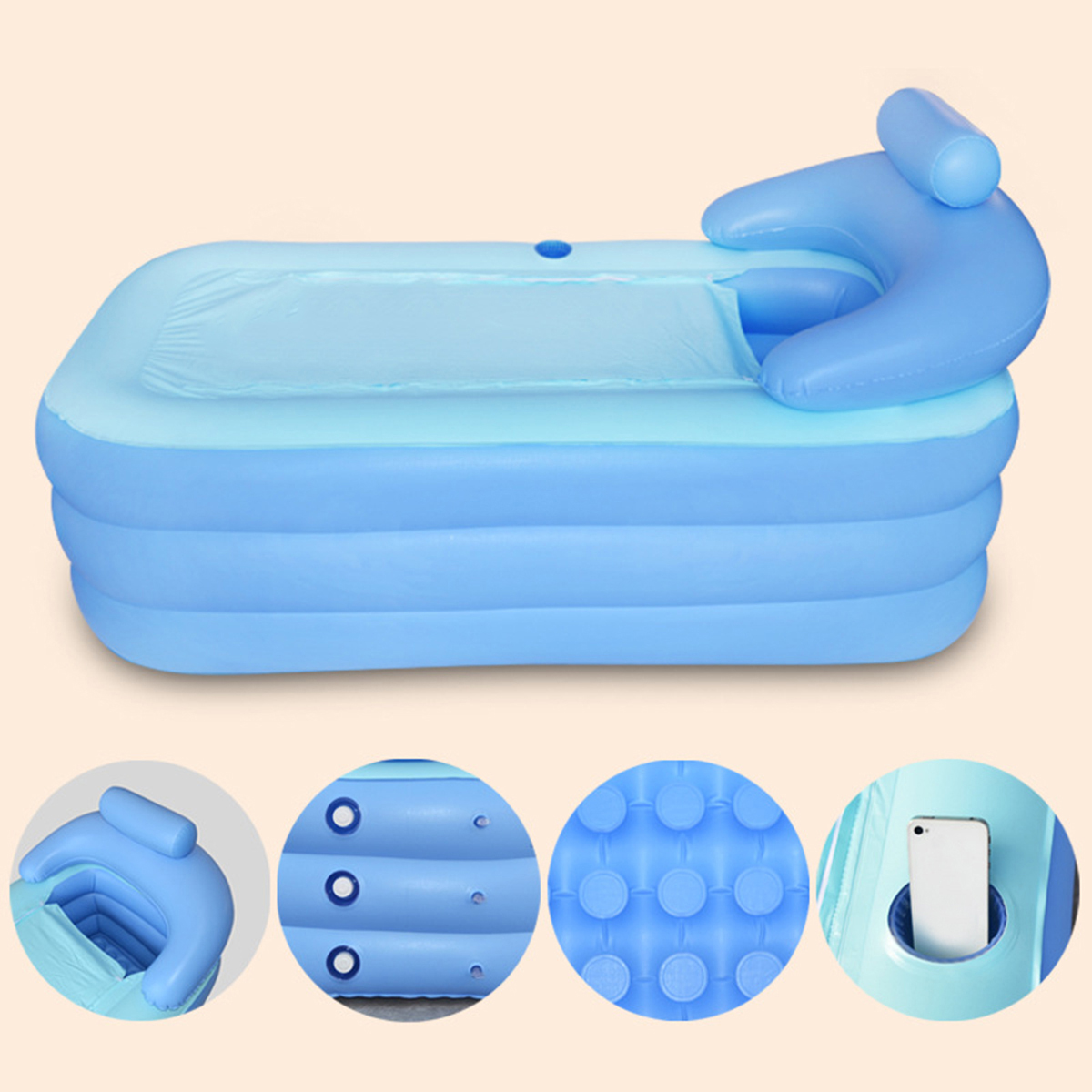 Big Inflatable Couch Us 66 52 17 Off Aliexpress Buy 160 84 64cm Big Size Indoor Outdoor Foldable Inflatable Bath Tub Pvc Adult Bathtub With Air Pump Household