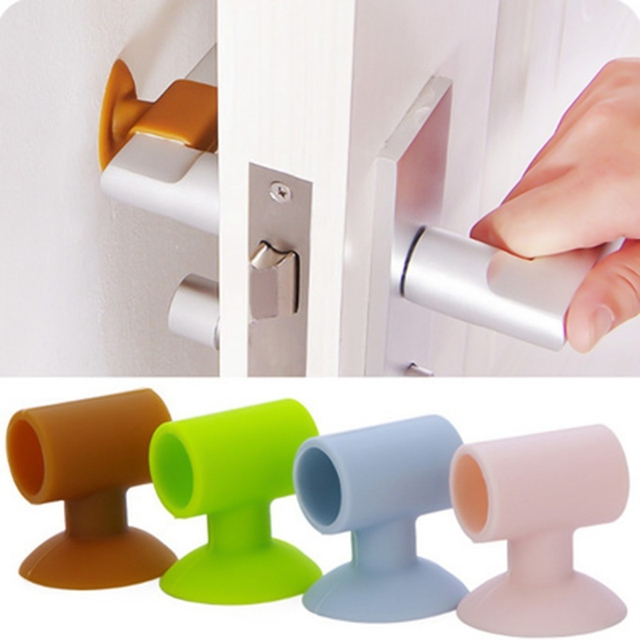 1 Pc After Wall Thickening Mute Sucker Rubber Handle Lock Protective Pad Protection Home Decoration Accessories