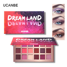 цена на UCANBE 18 Color Shimmer Matte Eyeshadow Palette Waterproof Colorful Pigment Eye Shadow Powder Makeup Palette Eye Beauty Cosmetic