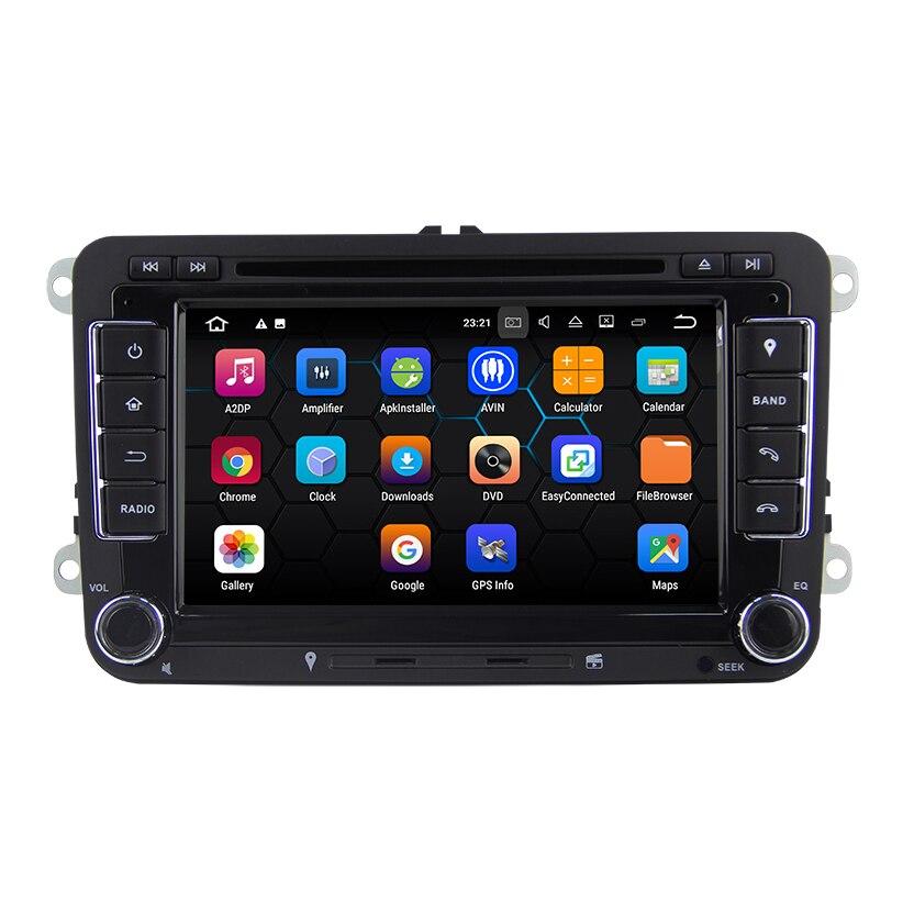 Lecteur DVD de voiture système Android 7.1.2 pour VW PASSAT Golf Tiguan Touran avec lecteur multimédia de voiture de Navigation GPS