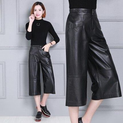 En Slim D'impression De Peau Taille P12 2019 Haute Femmes Mouton Pantalon wTIIx