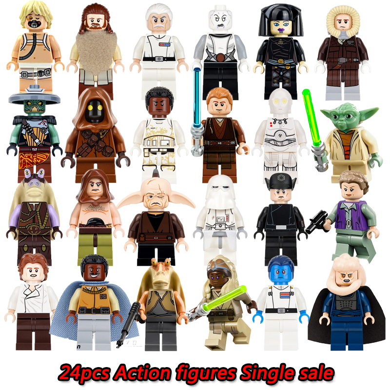 Star Wars Building Blocks Figures Darth Vader Barriss Offee Shaak Ti Jedi Super Heroes Model Action