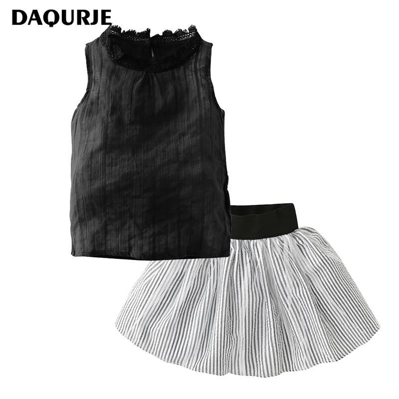 DAQURJE Summer Children Clothing Sets Girls Clothes T-Shirt+Short Skirts Toddle Girl Tracksuits Costume Kids Ensemble Fille
