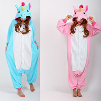 Nico The Unicorn Adults Pink Blue Unicorn Onesie Pajamas Men Animal Pyjama Party Halloween Cosplay Costume