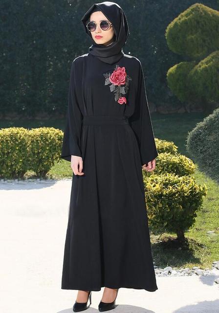 Moslim abaya jurk islamitische hijab lange jurk dubai ...