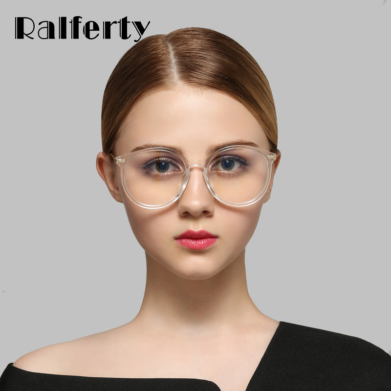 Ralferty Transparent Glasses Frame With Clear Lens Oversized Oval - Apparel Accessories - Photo 2