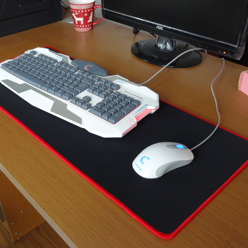 Pbpad Gaming Mouse Pad Bloqueo de borde Rojo / Negro Grosor de alta - Periféricos de la computadora - foto 5