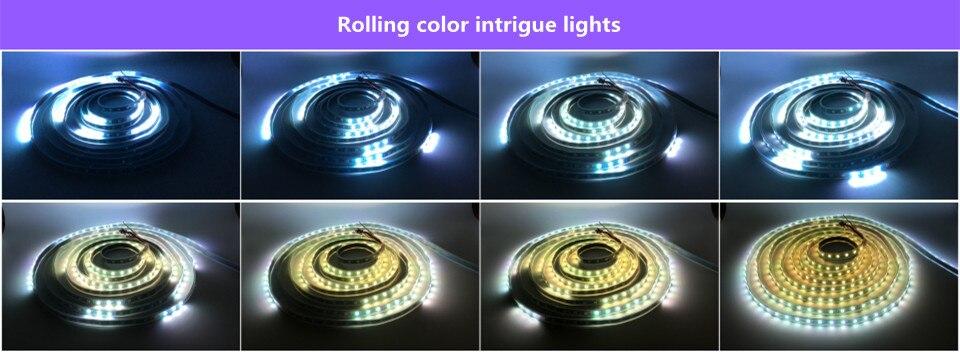 DC5V WS2812B 30/60/144 leds/m Smartled pixel RGB individually addressable led strip light Black/White PCB IC WS2812 pixel strips