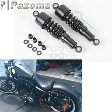 Motorbike Black Steel Slammer Lowering Kit 10.5 Shock Absorbers Custom for Harley Dyna FXD Low Rider Super Glide