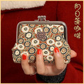 2015 New Creative Women Coin Purses Retro Purse Colorful Chinese Elements Wallets Fashion Canvas Small Purse Gift Wallets