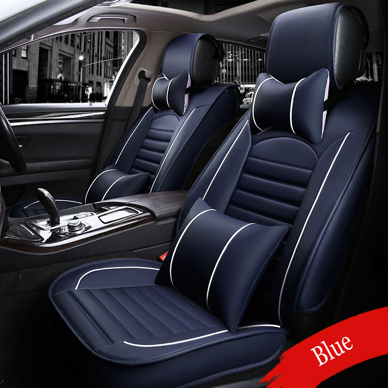( Front + Rear ) Luxury Leather car seat covers For KIA K2K3K4K5 Cerato Sportage Optima Maxima auto accessories PU car styling brand new styling luxury leather 5 color 3d car seat covers front