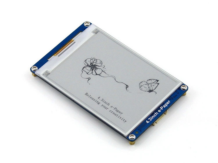 Modules 4.3inch E-Paper 800x600 Resolution E-ink LCD Display Module displays geometric graphics, texts, and images tm057kdh02 lcd displays