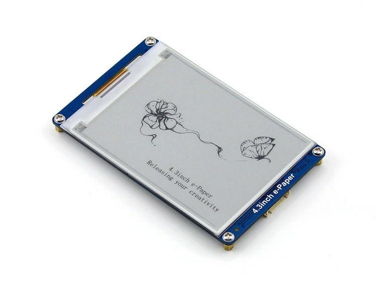 цены на Modules 4.3inch E-Paper 800x600 Resolution E-ink LCD Display Module displays geometric graphics, texts, and images в интернет-магазинах