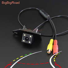 BigBigRoad For Mitsubishi ASX 2011 2012 2013 2014 2015 2016 Car Intelligent Dynamic Trajectory Tracks Rear View Backup Camera накладка заднего бампера mitsubishi mz576692ex для mitsubishi asx 2016
