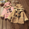 Children's Clothing 2017 Spring Winter kids Coat Version of The Baby Girl Cute Cartoon Lambskin Suede Jacket Coat for Boy menina