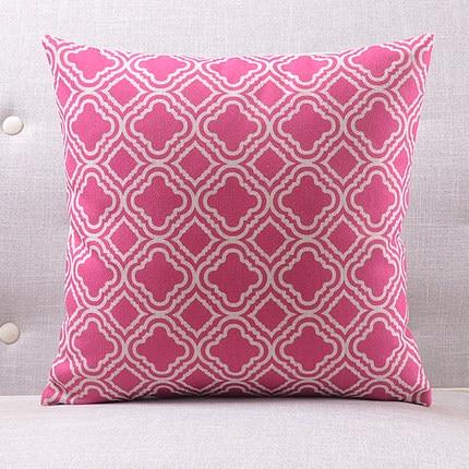 Розовая люстра подушки люстра с покрытием чехлы на подушки 45х45см наволочка 30X50 см домашний Спальня диван кровать украшения