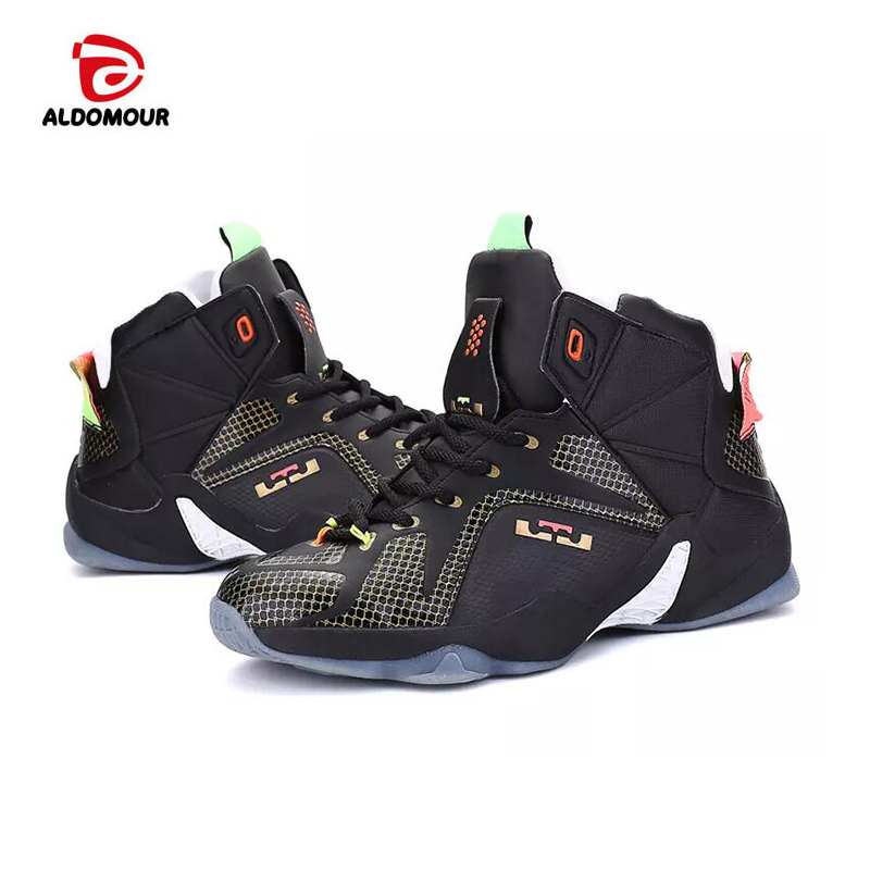 f9a479a2fc1 ALDOMOUR Cheap Basketball Shoe High Quality Sneakers Basketball Boots Back  to the Future Shoes For Plus Chaussures De Shoe 9308-in Basketball Shoes  from ...