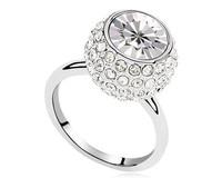 Wit Oostenrijkse Kristal Grote Steen Ring Groothandel Party Sieraden Vrouwelijke Ring Anniversary Ring Vrouw Geschenken RJZ0011