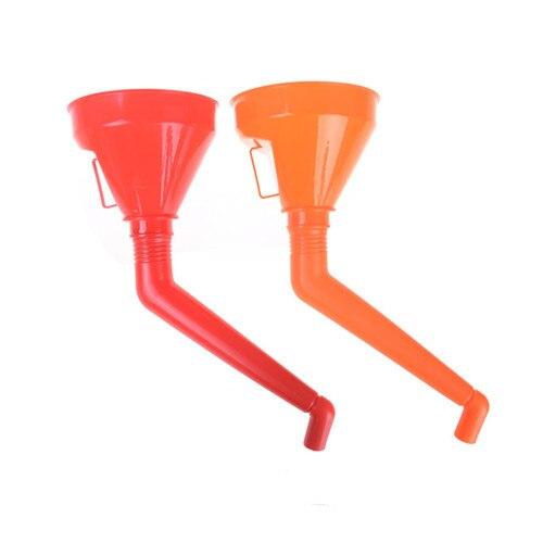 Car Refueling Funnel Plastic Gasoline Engine Oil Additive Motorcycle Farm Machine Funnel for Petrol Diesel Oil Fluids-Random Color