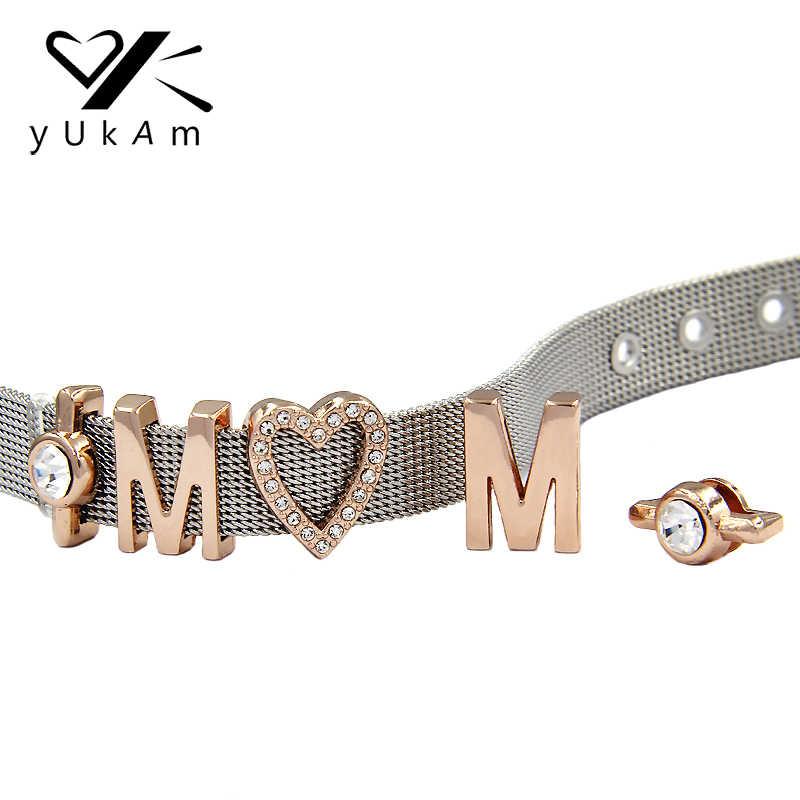 YUKAM слайдеры ювелирные изделия 10 мм DIY Индивидуальные слайды талисманы хранитель