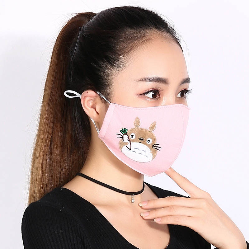 5pcs/Pack Korean Winter Mask Female Riding Dustproof Warm Lovely Fashion Warm Thick Breathing Mask Mouth Kpop Maska