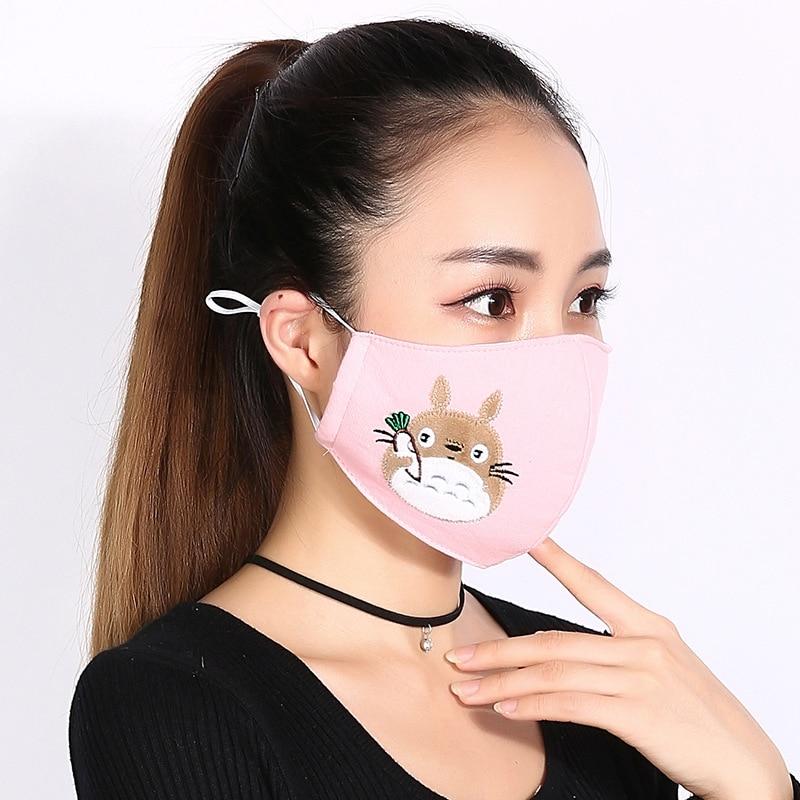 Respirators Fashion Style Anti-fog Mask Breathable Valve Multi-color Spunlace Dust Mask Sunscreen Disposable Mask Multi-color Mixed Hair 20pcs