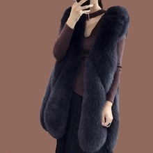Faux fur coat fashion casacas para mujer invierno 2019 vest female new hot fox  faux jacket womens casual
