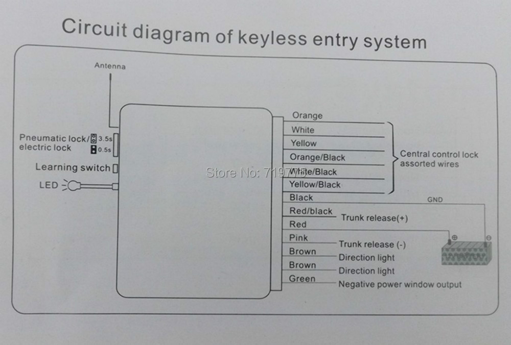 Keyless entry system vt keyless entry system bighawks m604 wholesale price universal car remote central lock locki diagram for keyless entry systems wiring diagrams swarovskicordoba Image collections