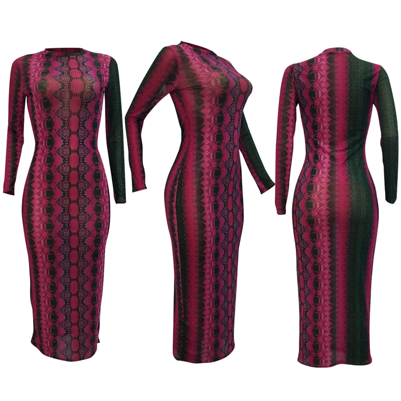 snake print dress -31