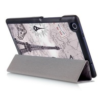 Newest Retro Tower Smart Cover For Lenovo Tab 3 8 Inch Case Flip PU Leather Case