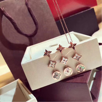 High Quality Fashion Jewelry Rose Gold color white Shell long pendant for Women's best gift free shipping