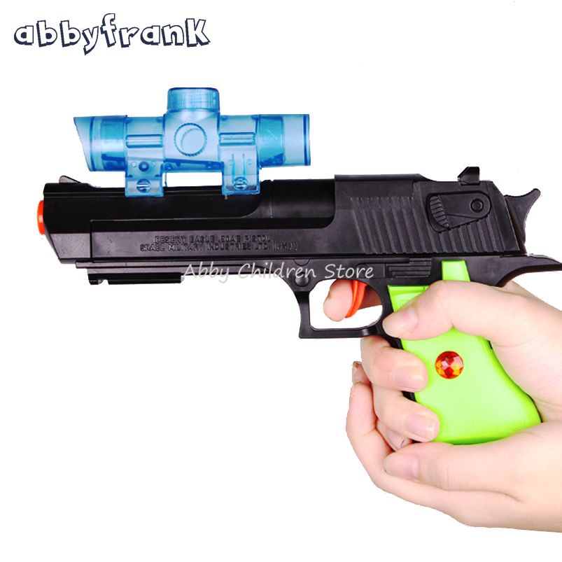Abbyfrank Kids Toy Gun Paintball Water Gun Plastic Air Soft Pistol Soft Bullets Sniper Orbeez Toys For Children Birthday Gifts