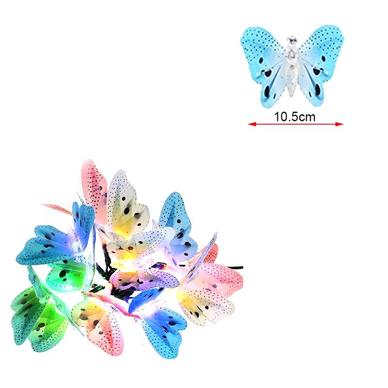 Optic Butterfly LED Solar Lights Christmas Fairy Garden Lights For Outdoor  House Garden Christmas Party Festvial Decoration