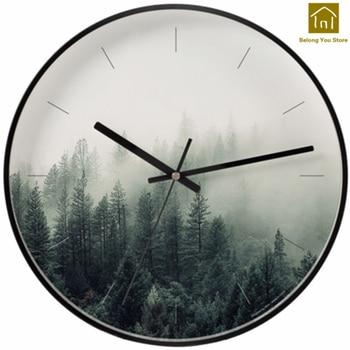 Mute Creative Art Wall Clock Modern Design Quartz Silent Designer Wall Clocks Horloge Murale Watch Reloj Household Items SKP013