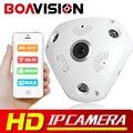 1.3MP 960 P 3D VR Leva del IP de WIFI Cámara de ojo de Pez Lente SD Ranura Para tarjeta Panorama HD Visión Nocturna Por INFRARROJOS Cámaras de Seguridad CCTV Cámara boavision