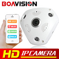 1.3MP 960P 3D VR Cam WIFI IP Camera Fisheye Lens SD Card Slot HD Panorama Cameras IR Night Vision CCTV Security Camera BOAVISION