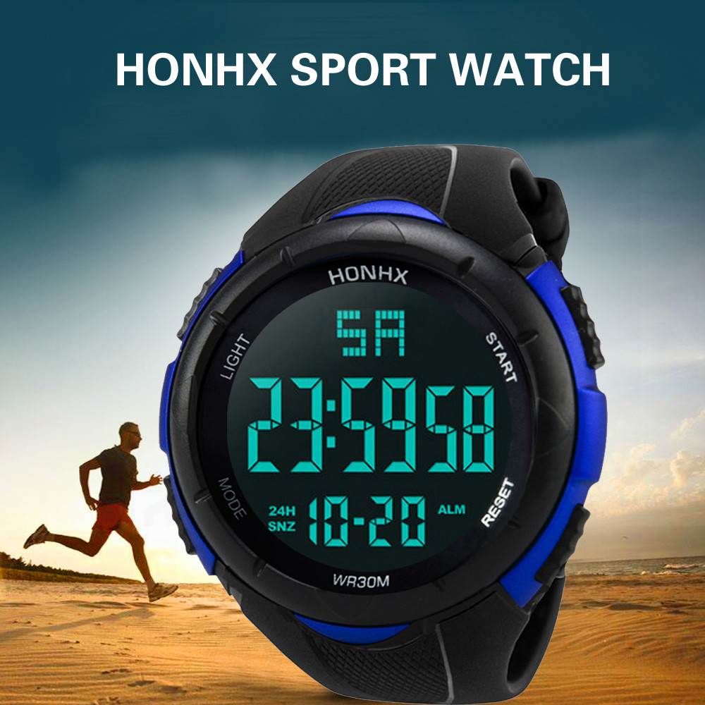 Herrenuhren Modestil Honhx Mode Luxus Marke Männer Uhr Analog Digital Military Sport Led Wasserdicht Herren Uhr Handgelenk Uhren Horloges Women Erfrischend Und Wohltuend FüR Die Augen Uhren