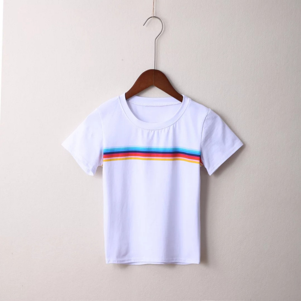 HTB1WrZRPVXXXXaGaXXXq6xXFXXXo - Rainbow Stripes Crop T-shirt PTC 141