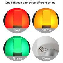 Multi-function LED Warning light 1 layer Tricolor folding warning lamp Flashing SOS Lamp Safety Indicator Light