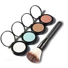 HUAMIANLI Highlighter Bronzer Paleta Com Espelho e Escova Conjunto de Maquiagem Rosto Pó Iluminador Brilho Elegante Kit de Cosméticos Maquiagem