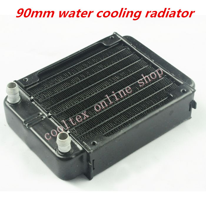 90mm water cooling radiator for computer Chip CPU GPU VGA RAM Laser cooling cooler Aluminum Heat Exchanger R90A 120 240 360 480mm water cooling cooler copper radiator heat sink part exchanger cooler cpu heatsink for laptop desktop computer
