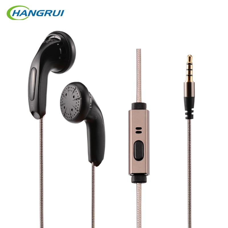 Hangrui K64 earphone with Microphone 64 ohms High Impedance In Ear Earbud Flat Hifi headsets Pk Monk qianyun 25 earphones