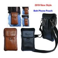 Multi Phone Model Hook Loop Belt Leather Pouch Holster Bag for DOOGEE S80 6.5/7 inch Phone Bag Bags S80 Lite Holster Bag Pocket