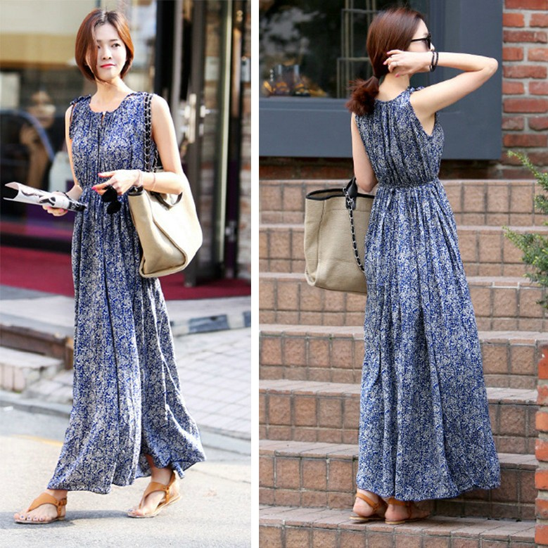 Maxi dress casual outfit